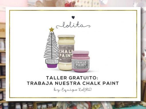 Taller Gratuito: Trabaja nuestra Chalk Paint